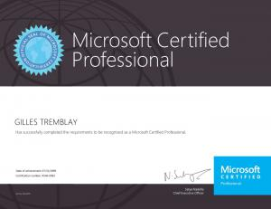 Microsoft Certified Professional (Legacy)