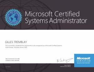 Microsoft Certified Systems Administrator Windows Server 2003