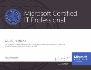 Microsoft Certified IT Professional - Enterprise Messaging Administrator on Exchange 2010