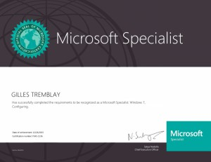 Microsoft Specialist - Windows 7, Configuring