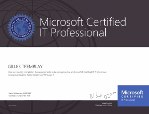 MCITP - Microsoft Certified IT Professional - Enterprise Desktop Administrator on Windows 7