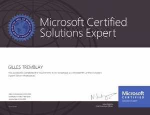 Microsoft Certified Solutions Expert - Server Infrastructure