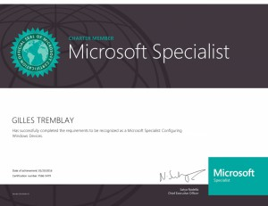 Microsoft Specialist - Windows 10, Configuring Windows Devices (Charter)