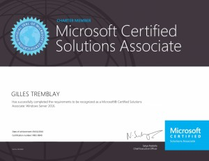 Microsoft Certified Solutions Associate - Windows Server 2016 (Charter)