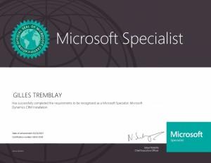 Microsoft Specialist - Microsoft Dynamics CRM Installation
