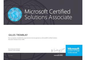 Microsoft Certified Solutions Associate