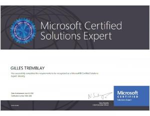 Microsoft Certified Solutions Expert - Mobility (2019)